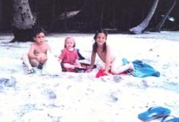Mon frère, moi et ma soeur en Thailande mi-année '80