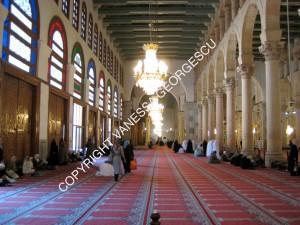 coté des femmes à la grande mosquée des Omeyyades à Damascus en Syrie