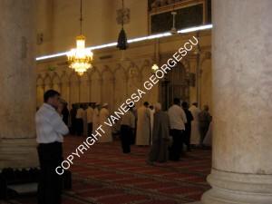 côté des hommes à la grande mosquée des Omeyyades à Damascus en Syrie