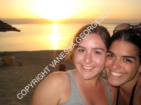 Soha et moi à la Mer Morte, Jordanie