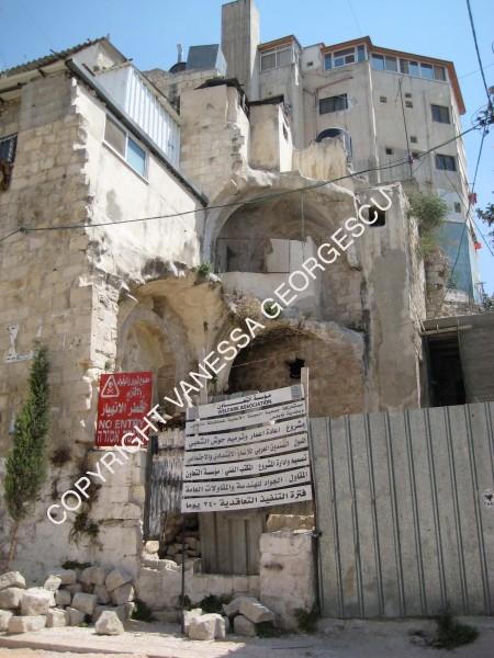Maison de Nablus défoncée par un bulldozer
