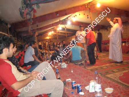 Soirée dans la tente de bédouin, Palmyra Syrie