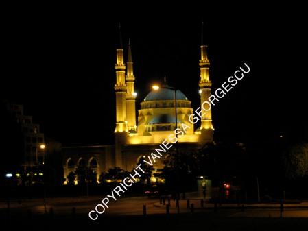 Centre de Beirut la nuit, Liban