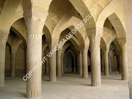Intérieur d'une mosquée de Shiraz, Iran