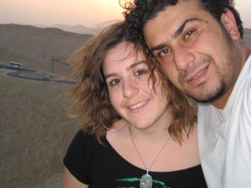 Hany et moi sur la colline de la citadelle de Palmyra en Juin 2008
