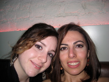 Digdem et moi dans un bar de Istanbul, Turquie