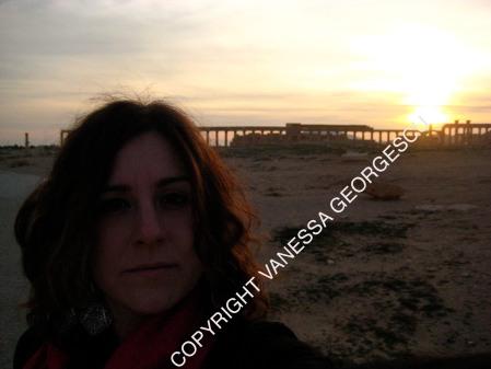 Moi devant les ruines de Palmyra au mois de décembre 2009, Syrie