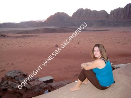 Dans le désert de Wadi Rum, Jordanie