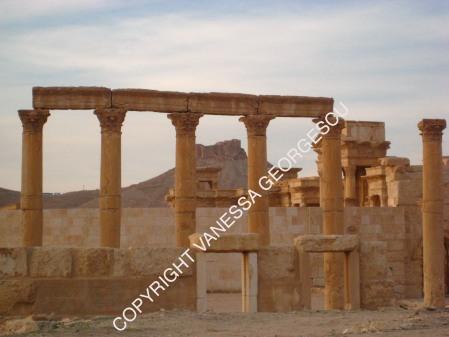Ruines de Palmyra au mois de décembre 2009, Syrie