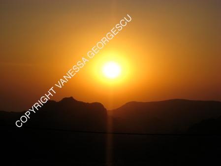 coucher de soleil à Pétra, Jordanie