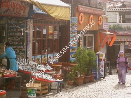 Petit restaurant où nous avons mangé dehors, Yedikule, Istanbul