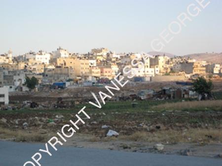 Vue sur le camp Askarà Nablus, Palestine