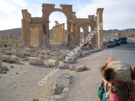Dans les ruines de Palmyra, Syrie