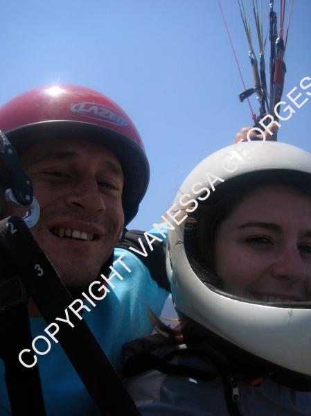 Sarkan et moi en parapente à Olüdeniz, Turquie