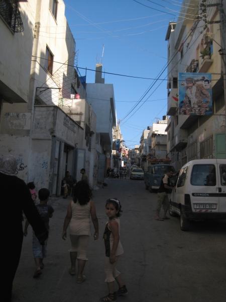 Sur le chemin pour la célébration d'après mariage à Nablus, Palestine