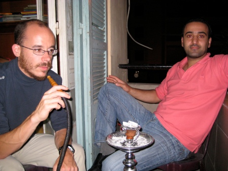 Wissam et Jullian sur le balcon, Beyrouth